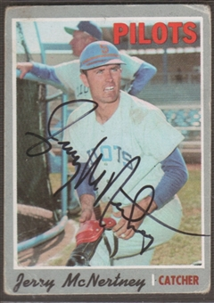 1970 Topps Baseball #158 Jerry McNertney Signed in Person Auto