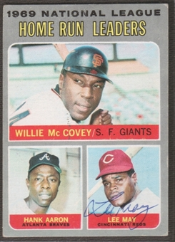 1970 Topps Baseball #65 Lee May Signed in Person Auto