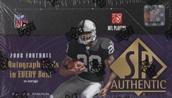 2008 Upper Deck SP Authentic Football Hobby Box