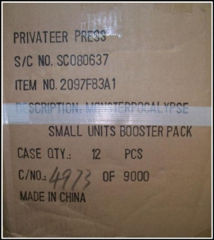 Monsterpocalypse Series 1 Unit Booster 12-Pack Case (Privateer Press)