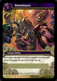 WoW Drums of War Single Slashdance (DoW-LOOT1) Unscratched Loot Card