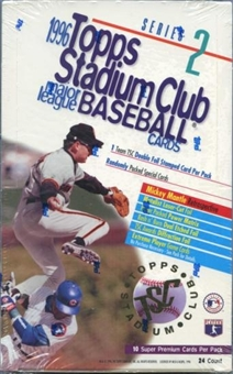 1996 Topps Stadium Club Series 2 Baseball Retail Box