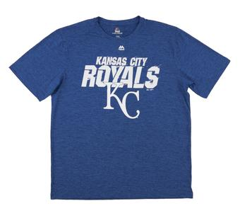 Kansas City Royals Majestic Winning Moment Blue Performance Tee Shirt (Adult Large)