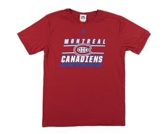 Montreal Canadiens Majestic Red Defenseman Performance Tee Shirt (Adult X-Large)