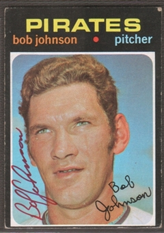 1971 Topps Baseball #365 Bob Johnson Signed in Person Auto