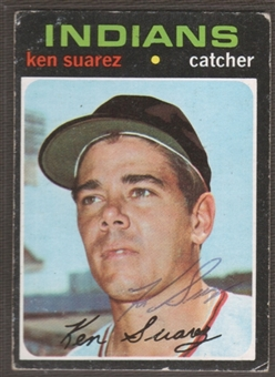 1971 Topps Baseball #597 Ken Suarez Signed in Person Auto