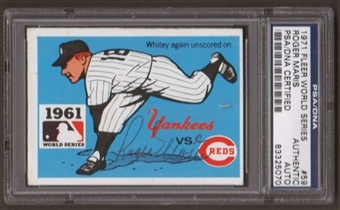 1971 Fleer World Series Roger Maris #59 Autographed Card PSA Slabbed (5070)
