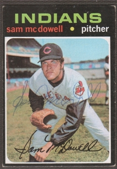 1971 Topps Baseball #150 Sam McDowell Signed in Person Auto