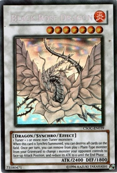 Yu-Gi-Oh Crossroads of Chaos 1st Edition Single Black Rose Dragon Ghost Rare - NEAR MINT (NM)