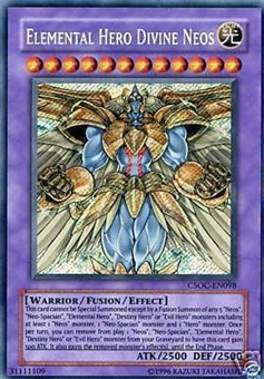 Yu-Gi-Oh Crossroads of Chaos Single Elemental Hero Divine Neos Secret Rare