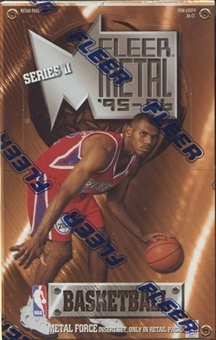 1995/96 Fleer Metal Series 2 Basketball Retail Box