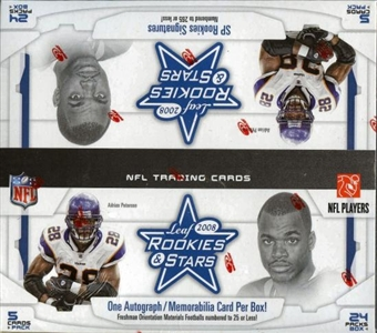2008 Leaf Rookies & Stars Football 24-Pack Box