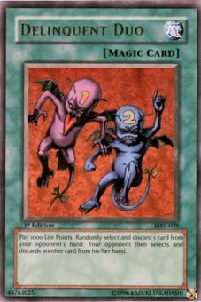 Yu-Gi-Oh Magic Ruler 1st Ed. Delinquent Duo Ultra Rare (MRL-039) - SLIGHT PLAY (SP)