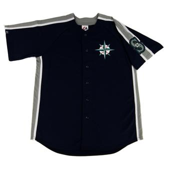 Seattle Mariners Majestic Navy Crosstown Rivalry Jersey (Adult M)
