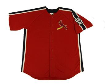 St. Louis Cardinals Majestic Red Crosstown Rivalry Jersey (Adult XL)