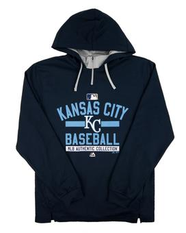 Kansas City Royals Majestic Navy Team Property 1/4 Zip Performance Hoodie (Adult L)