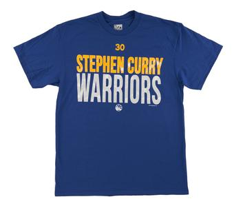 Golden State Warriors Majestic Steph Curry Blue Evolve From Within Tee Shirt (Adult XX-Large)