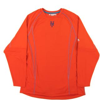 New York Mets Majestic Orange Performance On Field Practice Fleece Pullover (Adult XX-Large)