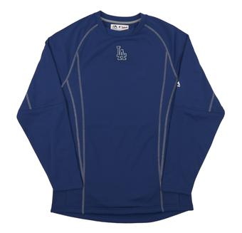 Los Angeles Dodgers Majestic Royal Performance On Field Practice Fleece Pullover (Adult Large)