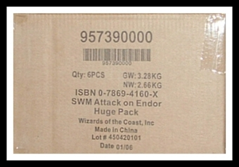 WOTC Star Wars Miniatures Attack on Endor 6-Box Case
