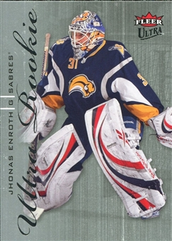 2009/10 Fleer Ultra #221 Jhonas Enroth RC