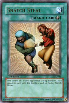 Yu-Gi-Oh Magic Ruler 1st Ed. Snatch Steal Ultra Rare Foil (MRL-036)