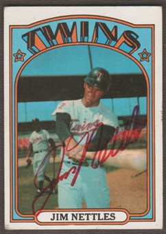 1972 Topps Baseball #131 Jim Nettles Signed in Person Auto