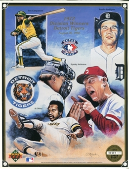 1992 Upper Deck 1972 Division Winners Detroit Tigers Commemorative Sheet
