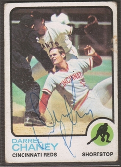 1973 Topps Baseball #507 Darrel Chaney Signed in Person Auto