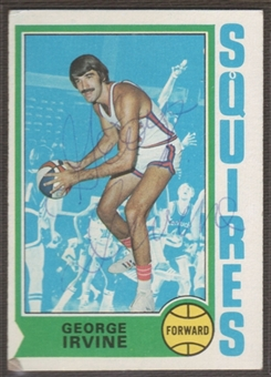 1974/75 Topps Basketball George Irvine Signed in Person Auto