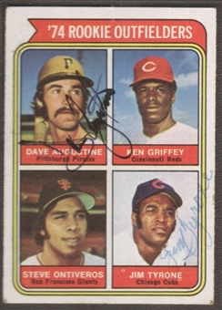 1974 Topps #598 Dave Augustine - Jim Tyrone Signed in Person Auto
