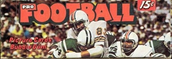 1974 Topps Football Wax Box