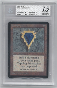 Magic the Gathering Beta Single Mox Sapphire Graded BGS 7.5