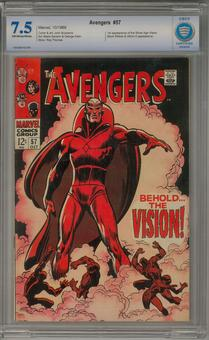 Avengers #57 CBCS 7.5 (OW-W) *7503368-AD-006*