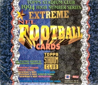 1994 Topps Stadium Club Series 3 Football Hobby Box