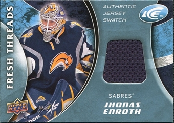 2009/10 Upper Deck Ice Fresh Threads Blue #FTJE Jhonas Enroth