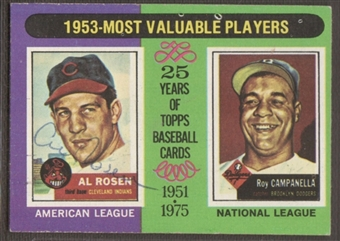 1975 Topps Baseball #191 Al Rosen Signed in Person Auto