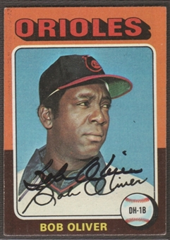 1975 Topps Baseball #657 Bob Oliver Signed in Person Auto