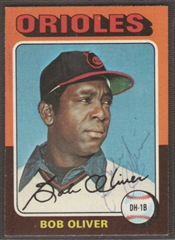 1975 Topps Baseball #657 Bob Oliver Signed in Person Auto (B)