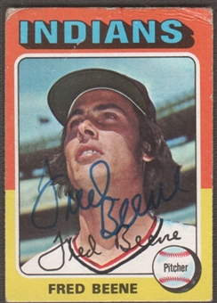 1975 Topps Baseball #181 Fred Beene Signed in Person Auto (A)