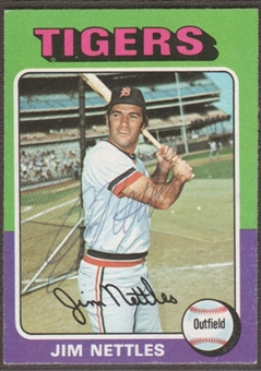 1975 Topps Baseball #497 Jim Nettles Signed in Person Auto