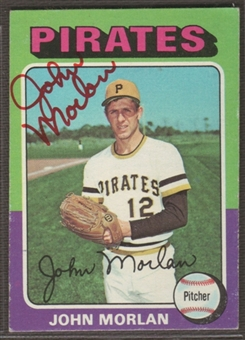 1975 Topps Baseball #651 John Morlan Signed in Person Auto