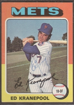 1975 Topps Baseball #324 Ed Kranepool Signed in Person Auto