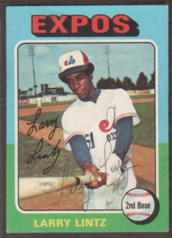 1975 Topps Baseball #416 Larry Lintz Signed in Person Auto