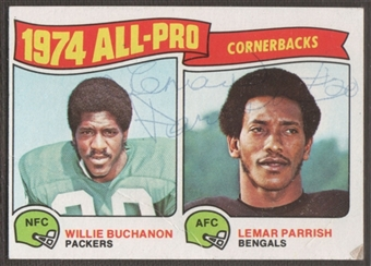 1975 Topps Football #221 Lemar Parrish Signed in Person Auto