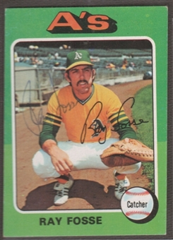 1975 Topps Baseball #486 Ray Fosse Signed in Person Auto
