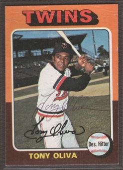 1975 Topps Baseball #325 Tony Olivo Signed in Person Auto