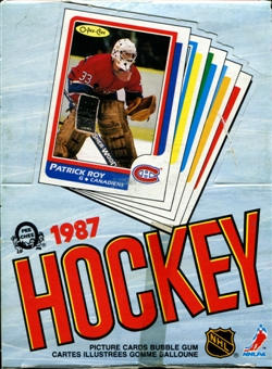 1986/87 O-Pee-Chee Hockey Wax Box (All Packs Graded by PSA 7 8 9)