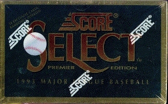1993 Score Select Baseball Hobby Box