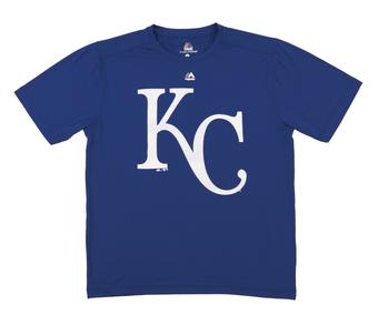 Kansas City Royals Majestic Blue Cool Base Performance Tee Shirt (Adult X-Large)